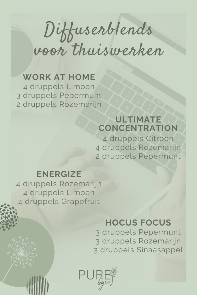 Diffuserblends voor thuiswerken - PURE by ME